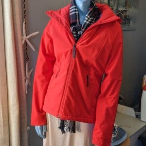 The North Face Windwall Red Foul Weather Coat
